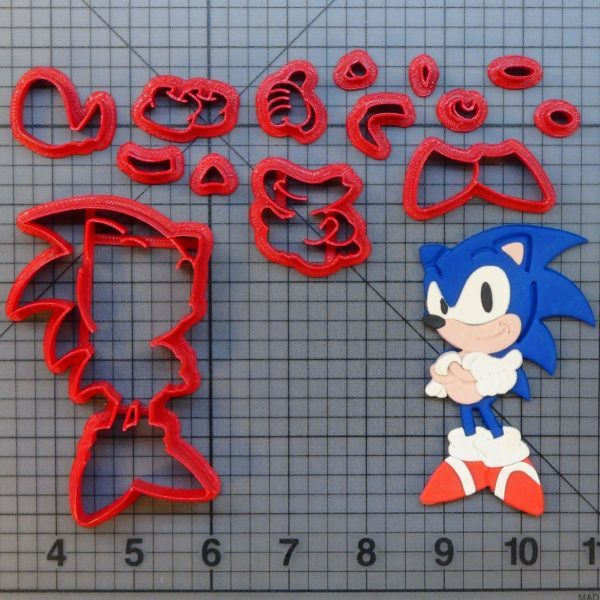 Sonic The Hedgehog Cutter Set 4 Inch Annettes Cake Supplies