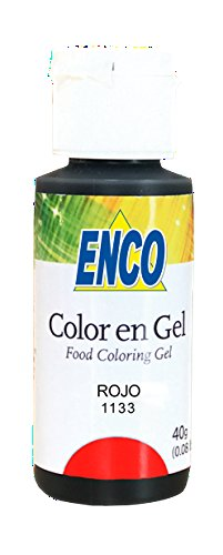 Enco Red Rojo Food Color 1133 NO TASTE! NO BITTERNESS!