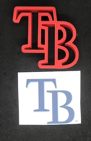 Tampa Bay Rays Fondant Cookie Cutter Various Sizes ...